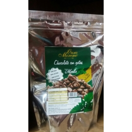 CHOCOLATE NATURAL EM GOTAS COM MENTA DE 500GR