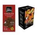Chocolate 45% CACAU AO LEITE DE COCO - Barras 80 g Caixa com 10 un.
