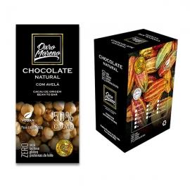 Chocolate com avelã  natural  50% cacau  - barras 80 g caixa com 10 un.