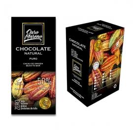 Chocolate 50% cacau puro - barras 80 g caixa com 10 unidades