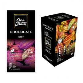 Barra de Chocolate Diet 50% Cacau Ouro Moreno 80g - Caixa com 10