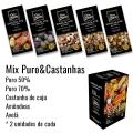 MIX Puro & Castanhas - Barras 80g  Caixa com 10 unidades