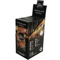 CHOCOLATE 50%   NATURAL  - BARRAS 80gr CAIXA COM 10 Un.