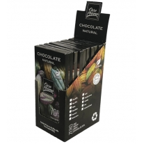CHOCOLATE   NATURAL  70% - BARRAS 80gr CAIXA COM 10 Un.