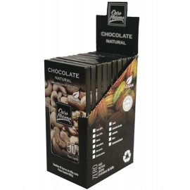 CHOCOLATE com CAJU  NATURAL  50%  - BARRAS 80gr CAIXA COM 10 Un.