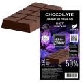 Barra de Chocolate Diet para derreter 50% cacau Low Carb com Eritritol - 1 kg