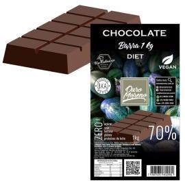 Barra de Chocolate Diet para derreter 70% Cacau com Maltitol Ouro Moreno - 1 kg