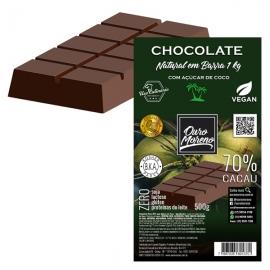 Barra de Chocolate para derreter 70% Cacau com Açúcar de Coco Ouro Moreno - 1kg