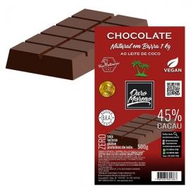 Barra de Chocolate para derreter 45% Cacau ao Leite de Coco Ouro Moreno - 1 kg