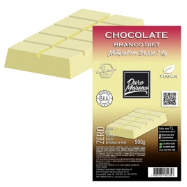 Barra de Chocolate Branco Diet para derreter com Maltitol Ouro Moreno - 1 kg