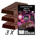 Kit 3 Barras de Chocolate para derreter Diet 50% cacau com Maltitol - 1 kg x 3