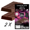 Kit 2 Barras de Chocolate para derreter Diet 50% cacau com Maltitol - 1 kg x 2