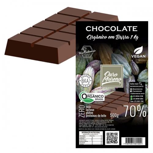 Barra de chocolate orgânico 70% cacau - 1kg
