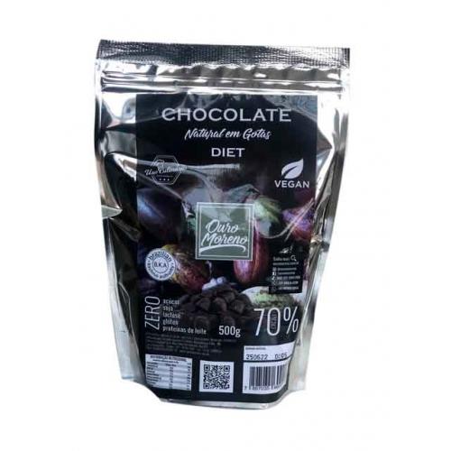 Chocolate natural em gotas 70% diet para uso culinário