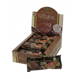 CHOCOLATE   NATURAL  50% - BARRAS 20gr CAIXA COM 16 Un.