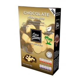 Chocolate puro&branco duo em gotas  200g