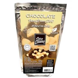 Chocolate puro&branco duo em gotas para uso culinário