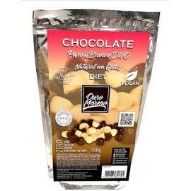 Chocolate puro&branco diet duo em gotas para uso culinário