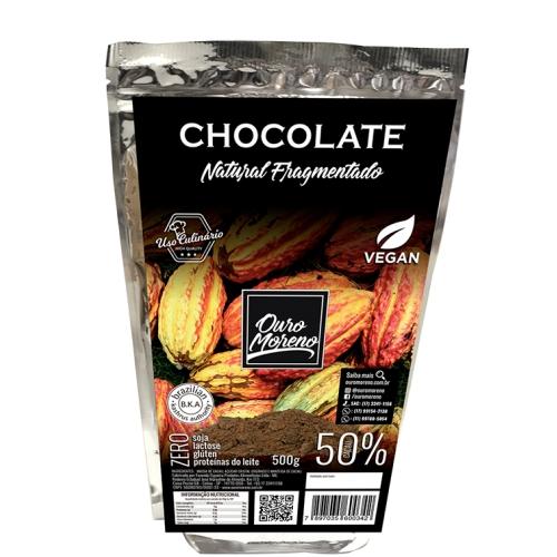 Chocolate fragmentado para culinária 50% cacau - 500g