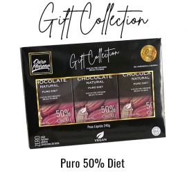 Gift collection chocolate 50% diet - barras 80 g caixa com 3 unid.