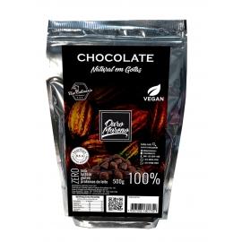 Chocolate em gotas para uso culinário 100% cacau 500g