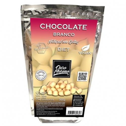 Chocolate em gotas branco diet com maltitol 500g