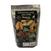 CHOCOLATE NATURAL EM GOTAS COM MENTA 50%