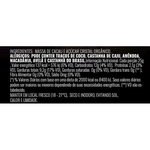 Barrinhas de chocolate 70% cacau 20g ouro moreno - caixa com 16 un